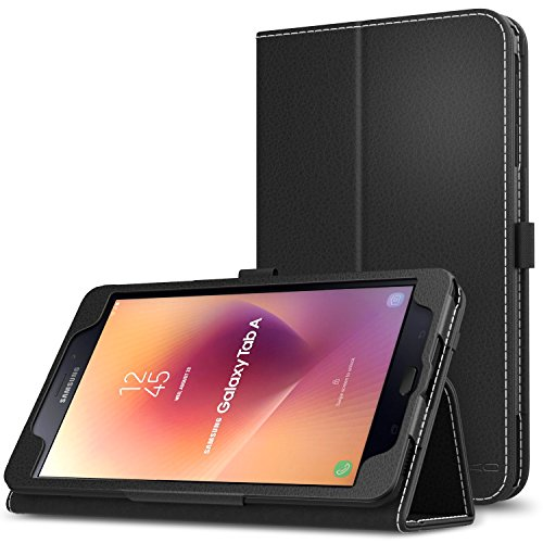 MoKo Samsung Galaxy Tab A 8.0 2017 Case - Slim Folding Stand Cover Case with Handle Strap for Galaxy Tab A 8.0 (SM-T380 / T385) 2017 Release (NOT FIT 2015 Tab A 8.0 SM-T350/P350), BLACK