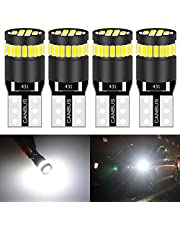 KATUR 194 LED Light Bulb 6000K White Super Bright 168 2825 W5W T10 Wedge 24-SMD 3014 Chipsets LED Replacement Bulbs CANBUS Error Free for Car Dome Map Door Courtesy License Plate Lights (4pcs,White)