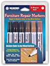 Set of 6 Assorted Furniture Repair Markers Stain Scratch