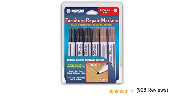 Amazon Set Of 6 Assorted Furniture Repair Markers Stain Amazon Set Of 6  Assorted Furniture Repair