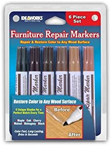 Jobar Set Of 6 Assorted Furniture Repair Markers Stain Scratch Floor Pens