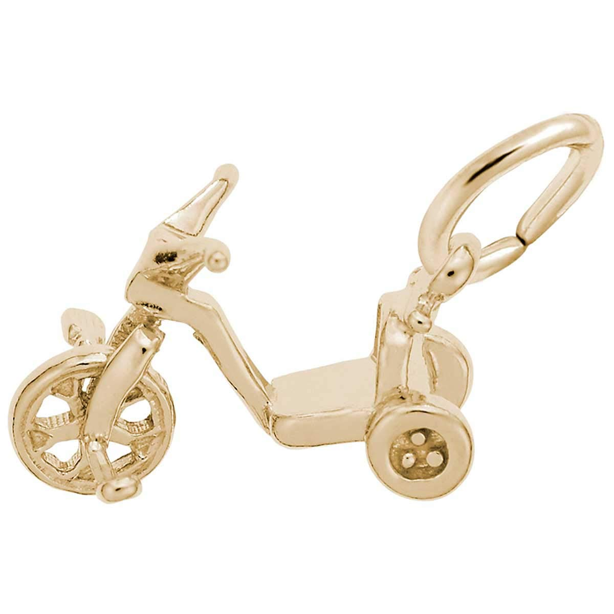10K Yellow Gold Rembrandt Charms Tricycle Charm