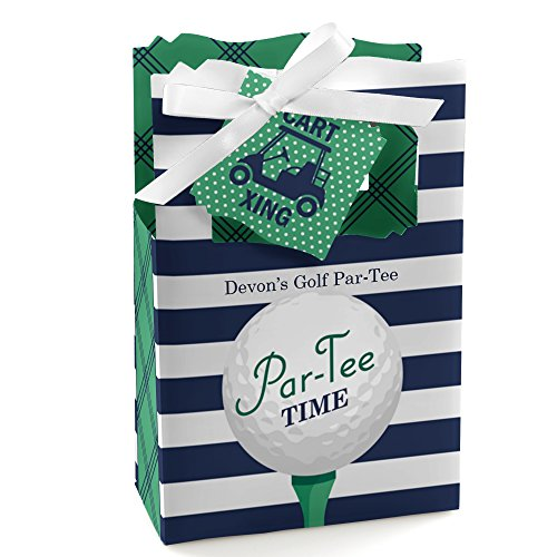 Custom Par-Tee Time - Golf - Personalized Retirement or Birthday Party Favor Boxes - Set of 12]()
