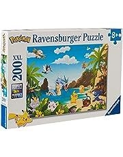 Ravensburger Barnpussel – 12840 Ta dig allt! – Pokémon-pussel för barn från 8 år, med 200 delar i XXL-format