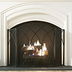 Pleasant Hearth Gothic 3 Panel Fireplace Screen from GHP-Group Inc