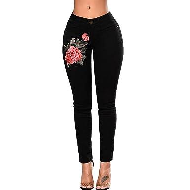 636ce2063d55 JYJM Damen Loch Mode Jeans Lose Jeans Sexy Skinny Jeans Freizeithosen  Stretchjeans Elegante Füße Hosen Bottoming Jeans Slim Jeans Schwarze Jeans  Damenhose ...