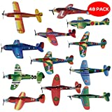 48 Paper Planes - Flying Gliders in 12 Different Designs - Perfect for Party Favours, Party Bag Fillers, Class Prizes, Stocking Fillers, Party Bag,, Pinata Xmas Stuffers and Christmas Prizes