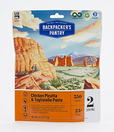 Backpacker's Pantry Chicken Piccata with Tagliatelle Pasta, Two Serving Pouch, (Packaging May Vary)​