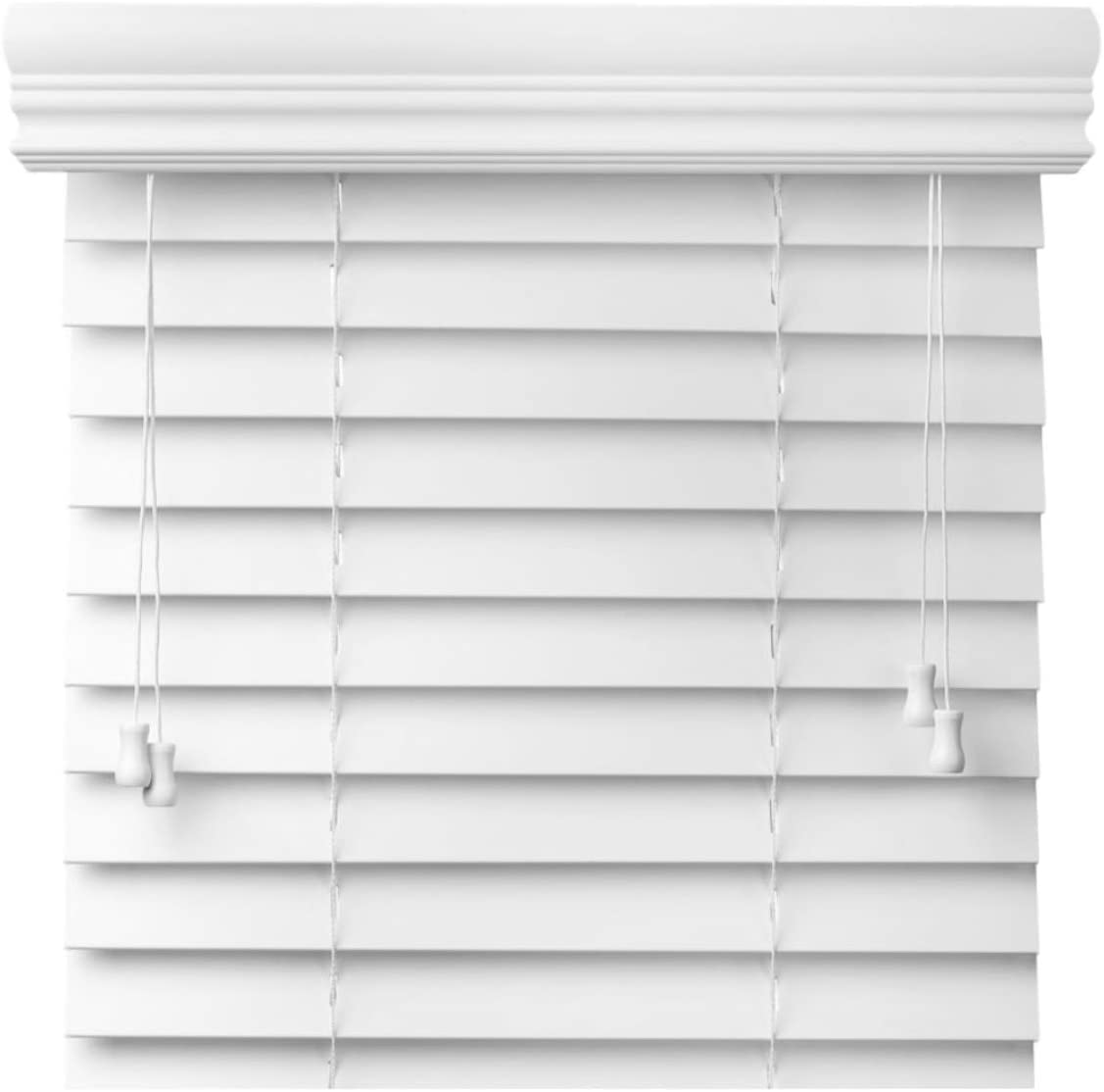 spotblinds Custom Made 2 Faux Wood Blinds – Choose Your Width and Length Range Then Customize Your Size, Color and Mount for a Perfect Match 45 Thru 47 7 8 , 60 Thru 71 7 8