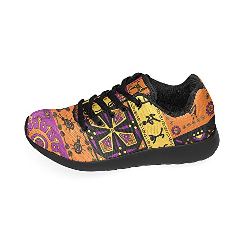 US Lightweight African Shoes Athletic Size Women's Pattern 6 Casual InterestPrint Sneakers 15 Running qnFazYnZ