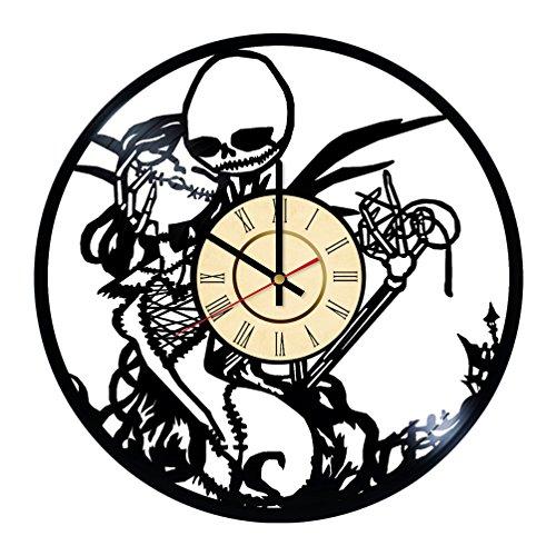 Fun Door The Nightmare Before Christmas Handmade Vinyl Record Wall Clock – Best Gift