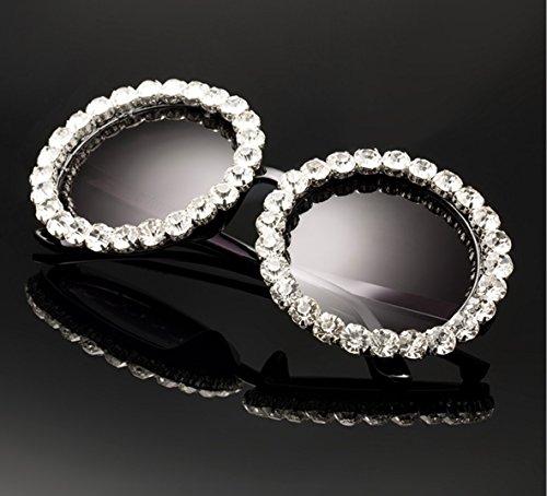 redonda ZHANGYUSEN de Vintage ovalada degradado Retro Eyewear mujer Nuevas damas B B sol para Diamantes de Oculos gafas sol gafas famosos p4pqrY