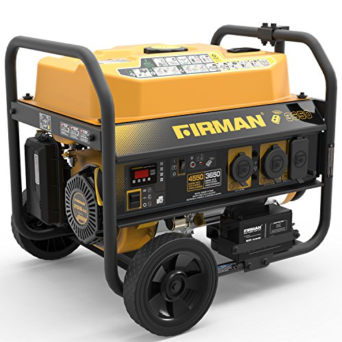 Firman P03608 4550/3650 Watt Remote Start Gas Portable Generator CARB Certified with Wheel Kit, Yellow ()