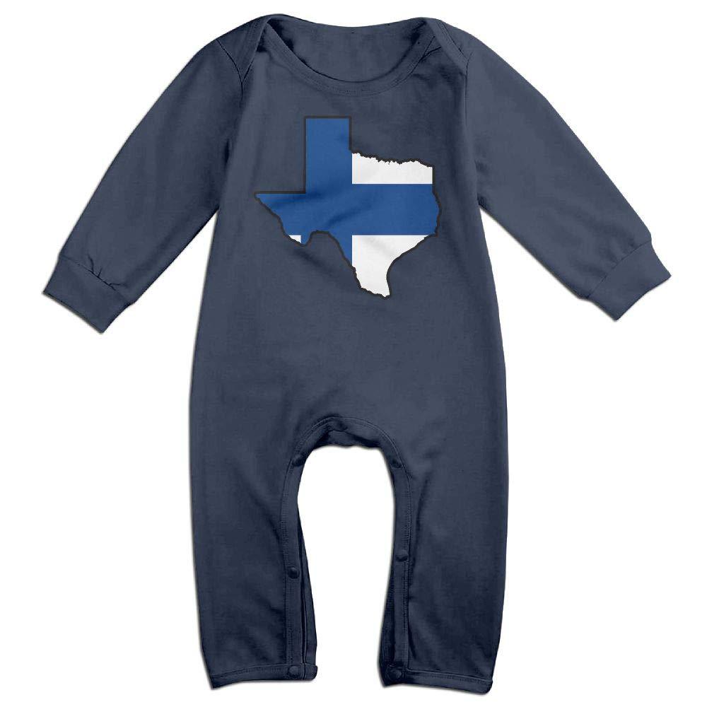 Mri-le1 Toddler Baby Boy Girl Coverall Finland Flag Texas Map Kid Pajamas