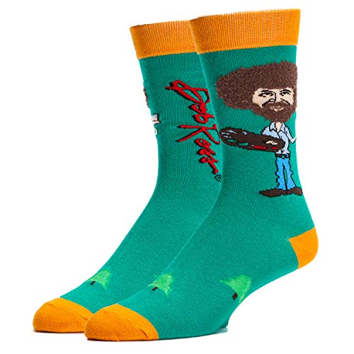 OoohYeah Men's Mister Rogers' Noverlty Funny Socks (Ture Bob Ross)
