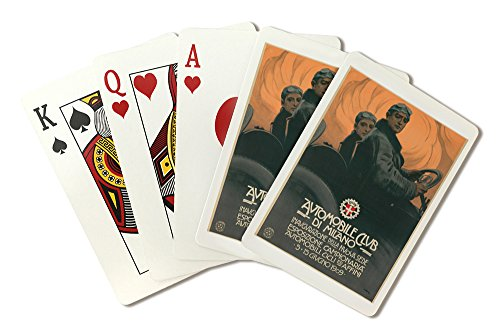 Milano Club (Automobile Club de Milano Vintage Poster (artist: Metlicovitz) Italy c. 1909 (Playing Card Deck - 52 Card Poker Size with Jokers))