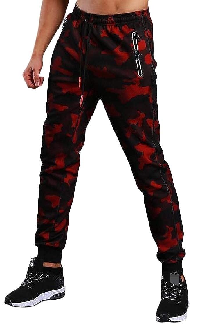 Etecredpow Men Camouflage Jogger Elastic Waist Casual Pocket Pant