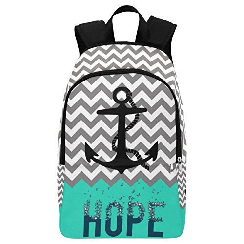 InterestPrint Nautical Anchor Hope Casual Backpack College School Bag Travel Daypack]()