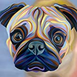 LBGMM Pug Dog 5D Diy Diamond Painting Cross Stitch Full Square/Round Drill Needlework Painting Resin Craft Diamond Embroidery Painting-30x40cm(11.8x15.7inch)