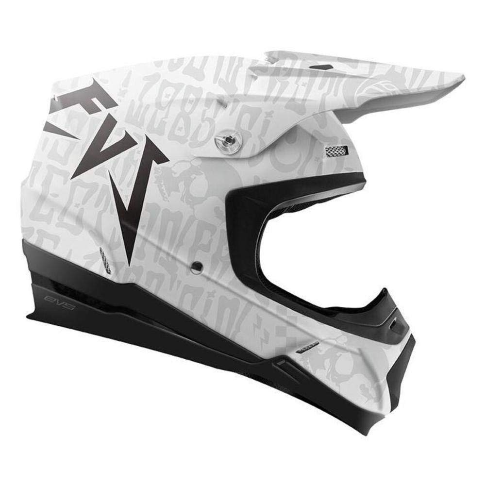 Evilution EVS Sports unisex-adult off-road-helmet-style T5 Helmet Matte White, XX-Large