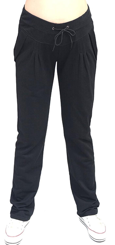 KXP Womens Casaul Autumn Pockets Drawstring Active Harem Pants