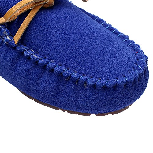 amp; Blue Diamond Shenn Fur Slip On Suede Loafers Leather Flat Moccasin Lined Slip Heel Women's Indoor Ons aa1Zq4w7