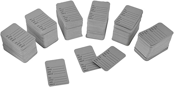 1000 L:arge Perforated Merchandise Coupon Price Tags Gray