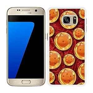 Funda carcasa para Samsung Galaxy S7 Edge diseño bola de dragón borde blanco