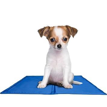LaCyan - Alfombrilla de refrigeración para mascotas, autoenfriamiento, activada a presión, gel plegable