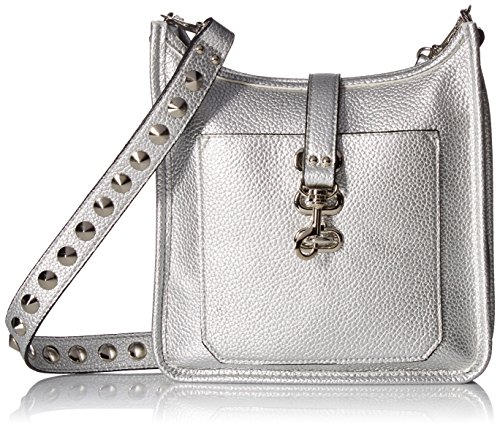 STUDS AND WITH silver MADDEN POCKET FUNCTIONAL LEATHER STRAP WITH WYLIE NON SHOULDER CROSSBODY HANDBAG STEVE WOMEN OUTSIDE ZqHw6qP