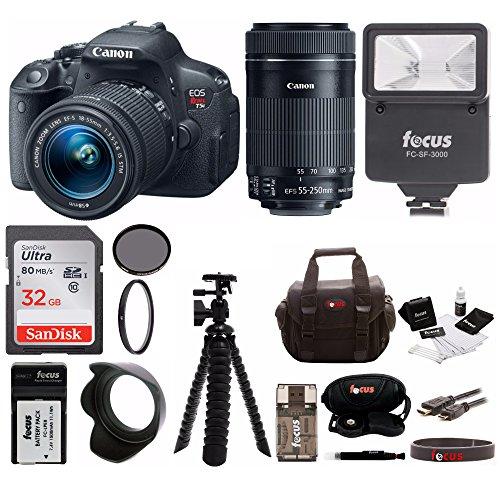 Canon EOS Rebel T5i w/ EF-S 18-55m Kit & 55-250mm Lens Bundle