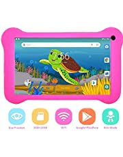 7 Inch Kids Tablet,Kids Edition Learning Tablet,Quad Core 2GB RAM 16GB ROM Android 9.0 Tablet with HD IPS Display, WiFi, Bluetooth 4.0, Dual Camera, Kid-Proof Case, GMS Certified (Pink)