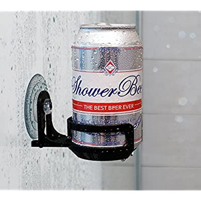 SipCaddy Bath & Shower Portable Cupholder Caddy for Beer & Wine Suction Cup Drink Holder