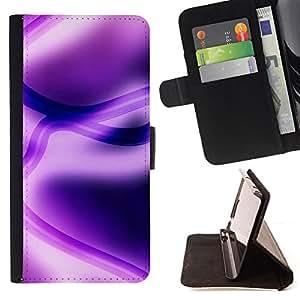 BullDog Case - FOR/Samsung Galaxy S5 Mini, SM-G800 / - / Abstract Purple /- Monedero de cuero de la PU Llevar cubierta de la caja con el ID Credit Card Slots Flip funda de cuer