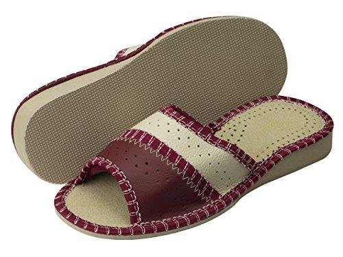 aveego - Zapatillas de estar por casa de Otra Piel para mujer Red Open Toe (42C)