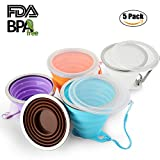 Collapsible Travel Cup, Certified BPA Free Silicone 9oz Drinking Mug with Lid - Water, Coffee, Coca Cola and Snacks for Hiking, Camping, Picnic