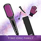 TYMO Ionic Hair Straightener Brush - Enhanced Ionic