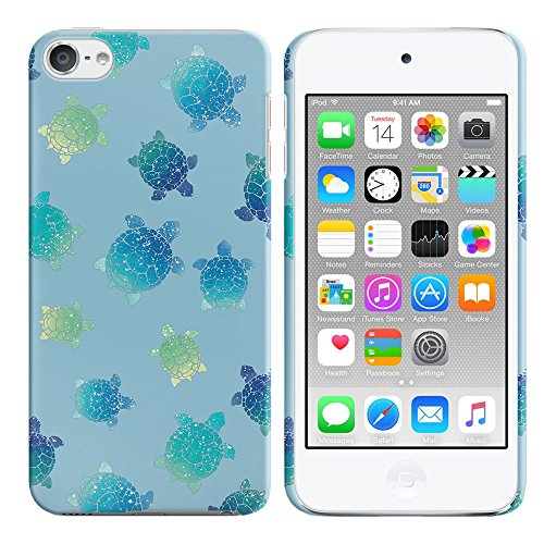 Apple iPod Touch 5 (5th Generation) iPod Touch 6 (6th Generation) Case, FINCIBO Back Cover Hard Plastic Protector Case Stylish Design Glitter Turtles