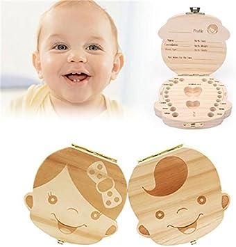 Caja de dientes para beb/és,Caja de Almacenamiento de Dientes,Dientes de Leche Souvenir Caja Chica de lado de color