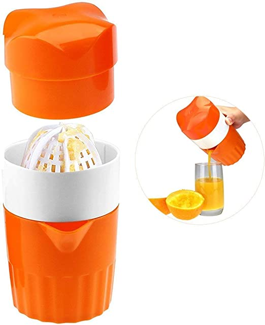 Mini Manual Hand Orange Lemon Juicer Squeezer Plastic Portable Outdoor Travel