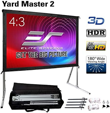Amazon Com Elite Screens Portable Outdoor Projector Projection Screen With Stand Yard Master 2 Series 135 Inch Diagonal 4 3 Ultra Hd 8k 4k 3d Fast Folding Movie Theater Cinema 135 Foldable Easy Snap