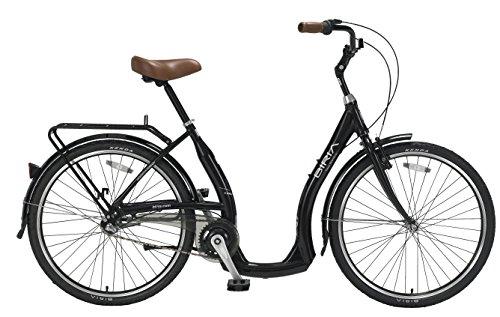 Biria Step Through 3-speed Shimano Nexus internal Hub, Aluminum, Black 18 Inch frame size, Cruiser comfort German design Bicycle