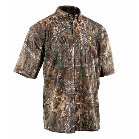 85a533ebde578 Amazon.com : Browning Wasatch Mesh Lite Short Sleeve Shirt, Realtree ...