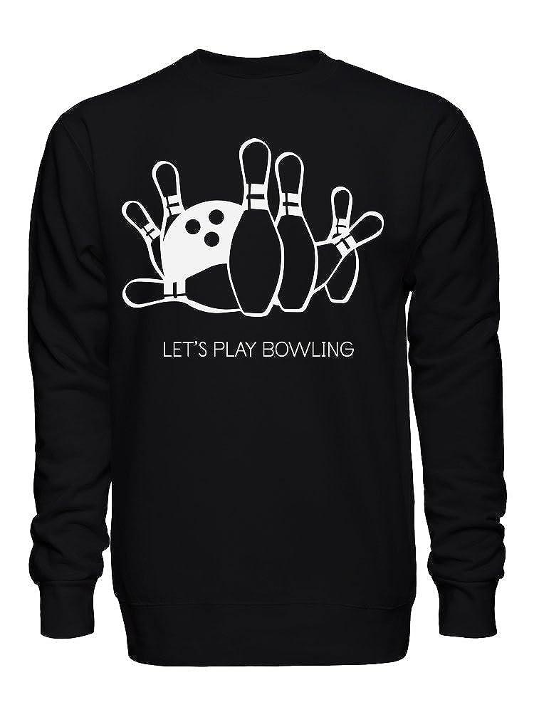 graphke Lets Play Bowling Unisex Crew Neck Sweatshirt