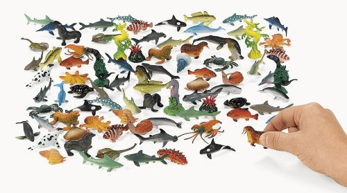 Under The Sea Plastic Sea Life Creatures 90 pc (Sea Life Miniatures)