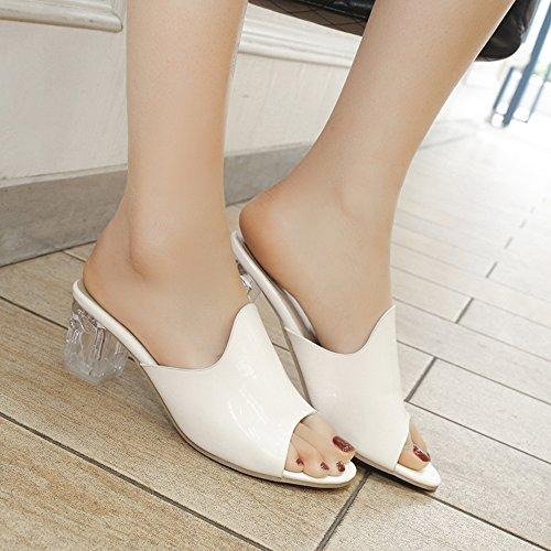 White Zanpa Donne Mode Mules Heels xnnTCvq1wp