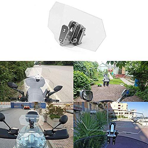 MFS MOTOR Universal Adjustable Deflector Windscreen Windshield Spoiler For Yamaha Suzuki Kawasaki Honda