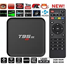 T95M 4K 2G/8G Android 6.0 Lollipop OS Amlogic S905X Kodi 16.0 XBMC Pre-installed Full Loaded Smart TV Box Quad Core HDMI WIFI 3D Google Youtube Streaming Media Player