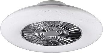 Ventilador de techo LED regulable, silencioso, diámetro de 75 cm ...