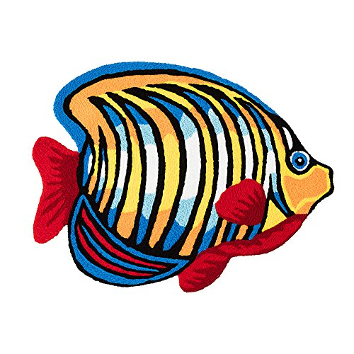 MAXYOYO Colorful Fish Entry Rug Door Mats Outside Inside Welcome Mat Outdoor Mats for Front Door, Bath Mat Non Slip Small Rug for Kitchen Bedroom Bathroom Decor Throw Rugs and Mats 23 by 31 Inch (& Mats Bath Rugs Fish)